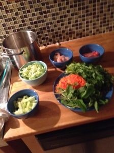 salad wrap fixings